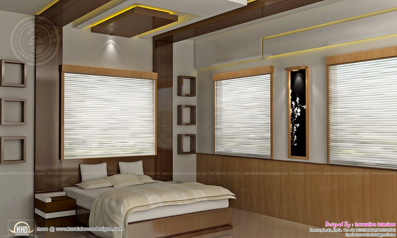 Home interior designs by increation kannur home kerala for Interior design bedroom kerala style