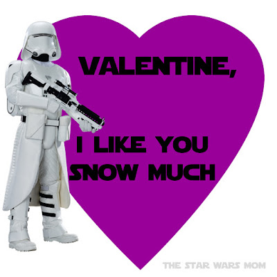 Snowtrooper Valentine Free Printable The Force Awakens