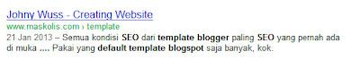 seo blogger template penelusuran google