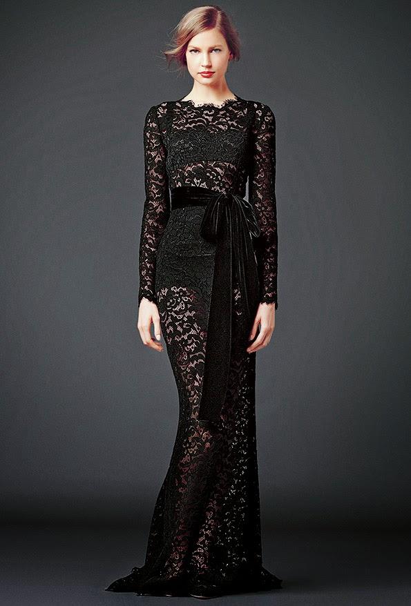 dolce and gabbana black lace modest maxi dress with sleeves stylish beautiful fashion Mode-sty jewish tznius mormon lds pentecostal christian muslim hijab islamic