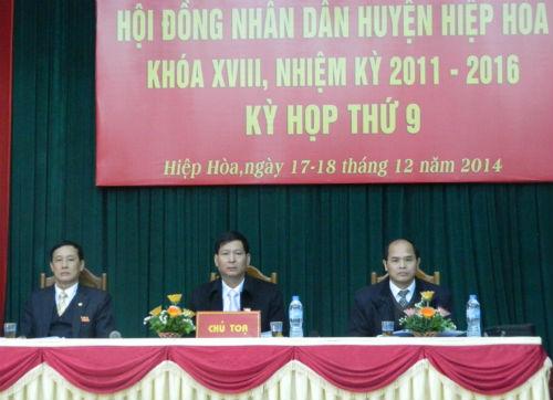 HĐND huyện Hiệp Hòa bế mạc kỳ họp thứ 9