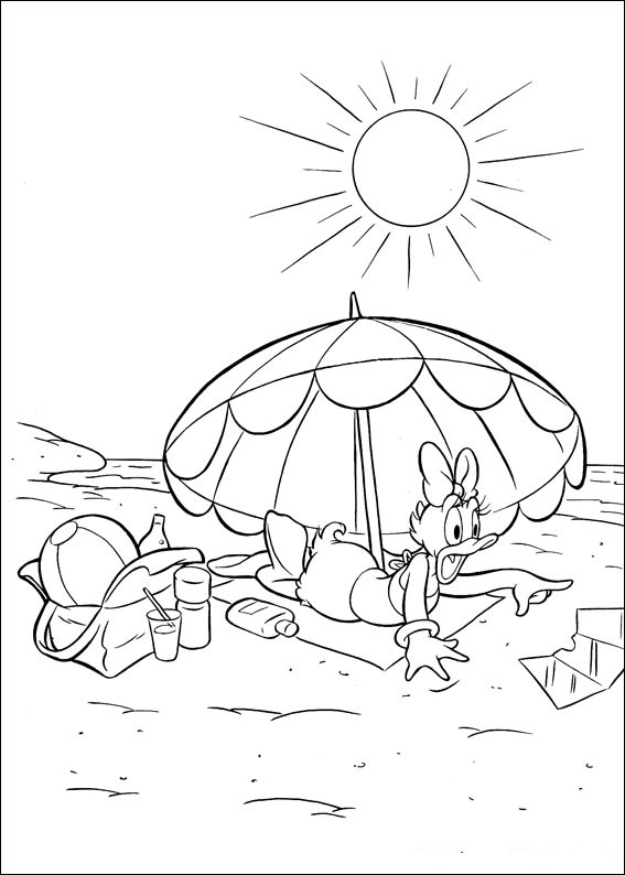 Fun Coloring Pages Disney Daisy Duck Coloring Pages