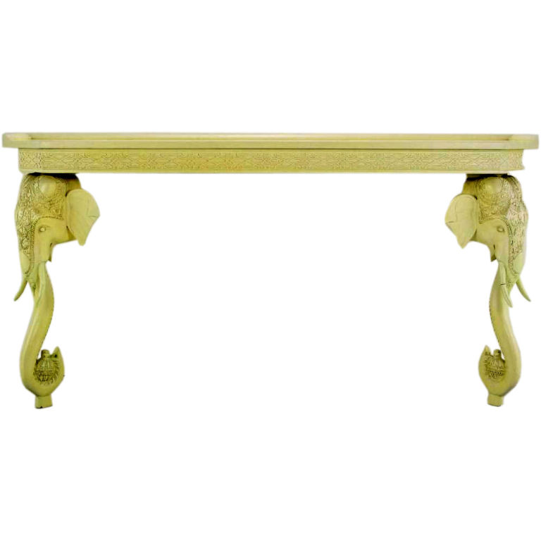 Chinoiserie Chic The Elephant Console Table