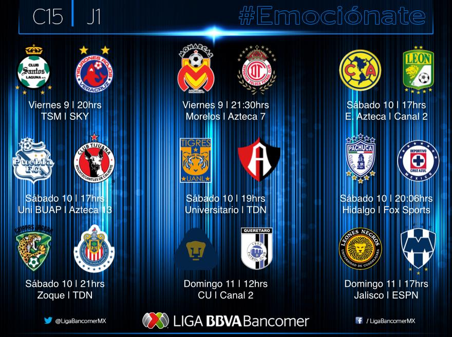 Hoy Comienza Liga MX Clausura 2015