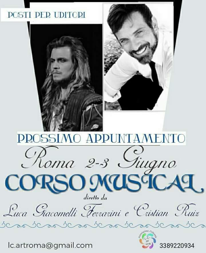 CORSO DI MUSICAL DIRETTO DA LUCA GIACOMELLI FERRARINI E CRISTIAN RUIZ