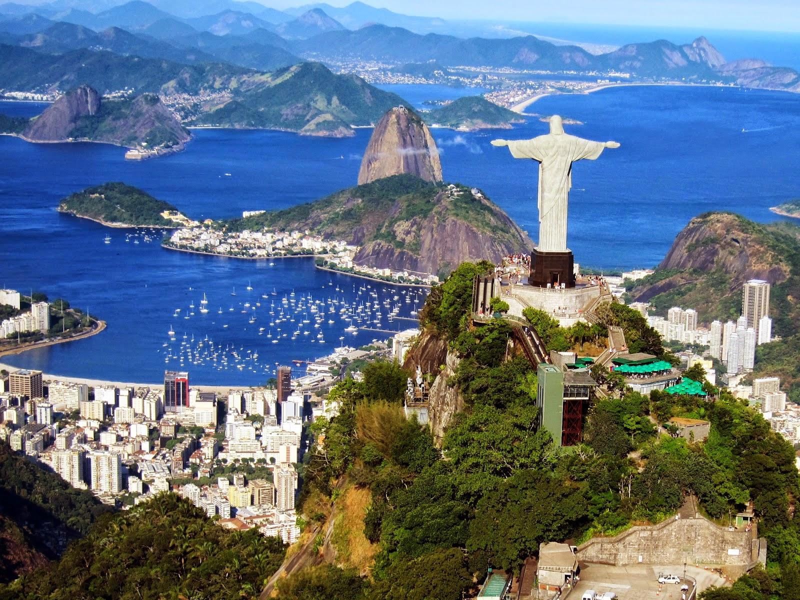 The famous Copacabana Beach in Rio de Janeiro. Brazil