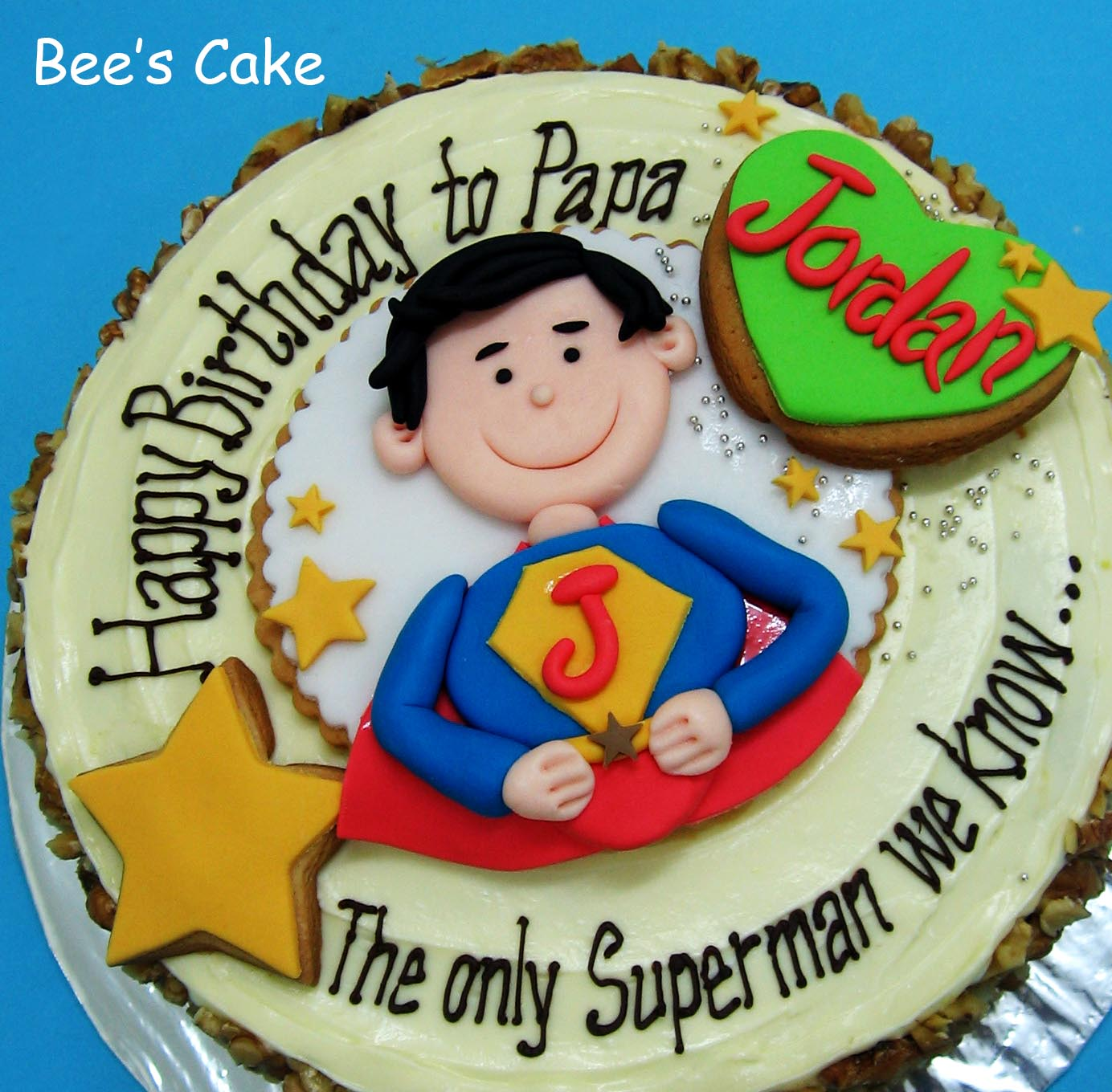 The Super Papa Customised Design Carrot Cake