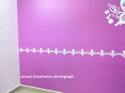 Butterfly wall decal installed in Chennai
