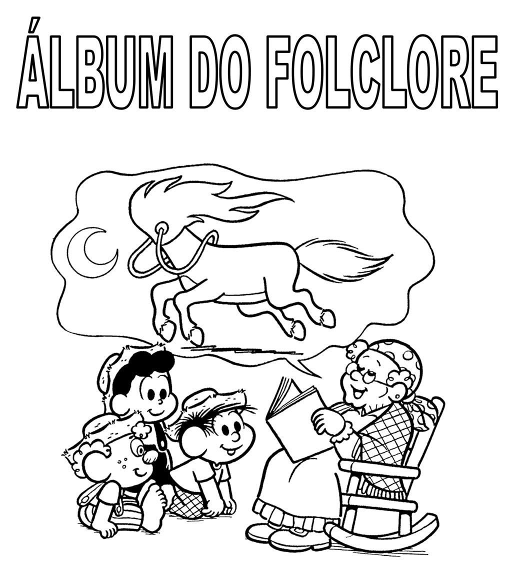 Atividades do Folclore - Álbum do Folclore - Colorir