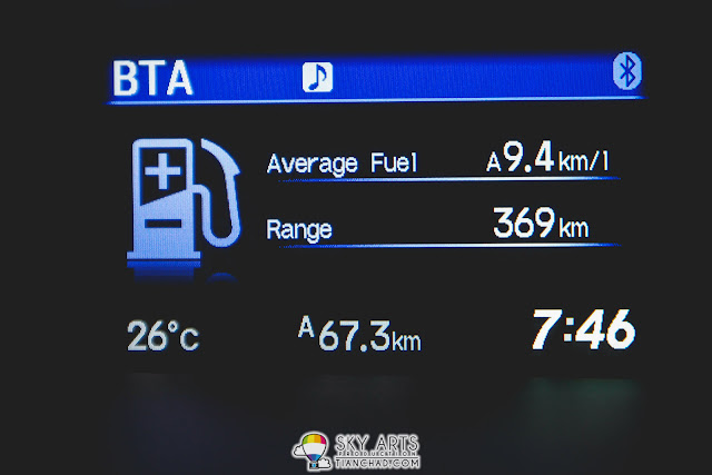 Average fuel 9.4km/l with Econ Fuel Saving Mode on
