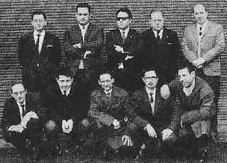 Componentes del Club Ajedrez Español, campeón de la Copa Catalana 1964-65