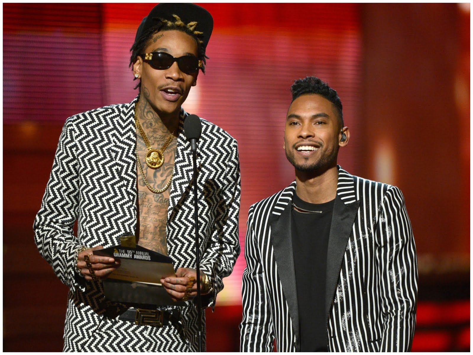 00O00 Menswear Blog Miguel in Saint Laurent - 55th Annual GRAMMY Awards at Staples Center on February 10, 2013 in Los Angeles, California