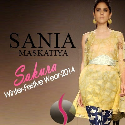 Winter Festive Collection 2014 Sania Maskatiya Sakura