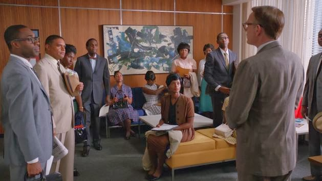 African Americans apply for a job at Sterling Cooper Draper Pryce
