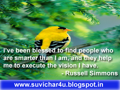 I've been blessed to find people who are smarter than I am, and they help me to execute the vision I have.