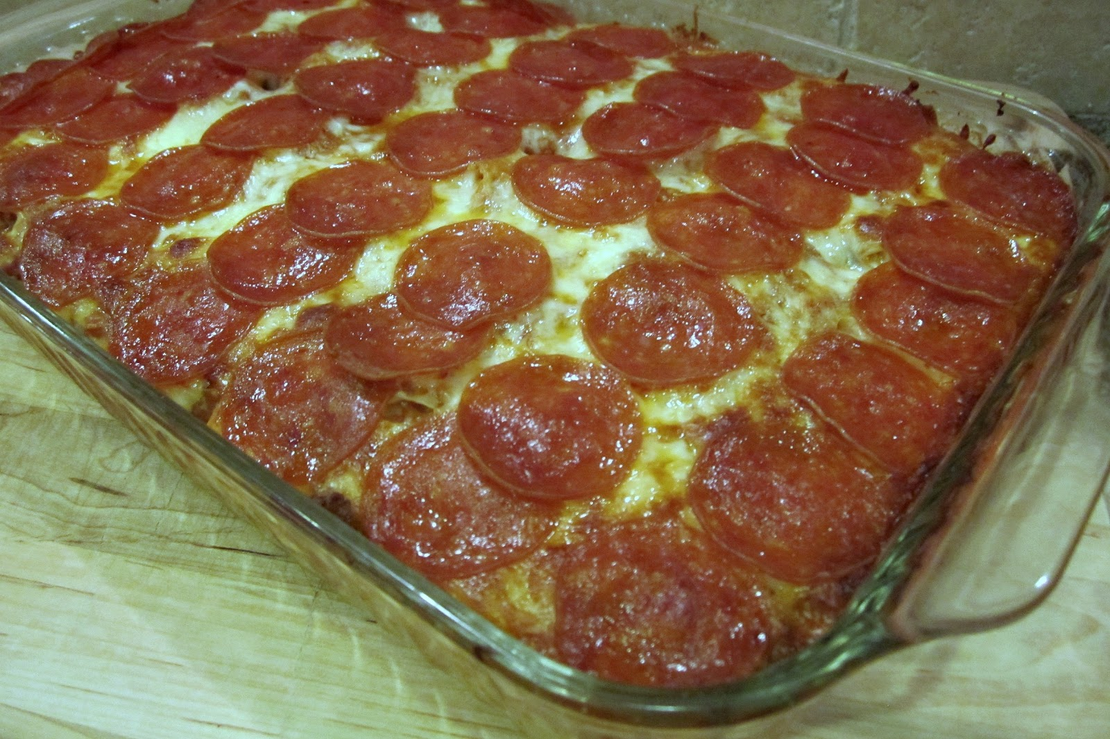Our Bubble Life: Pizza Casserole
