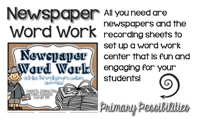 https://www.teacherspayteachers.com/Product/Newspaper-Word-Work-Activities-845442
