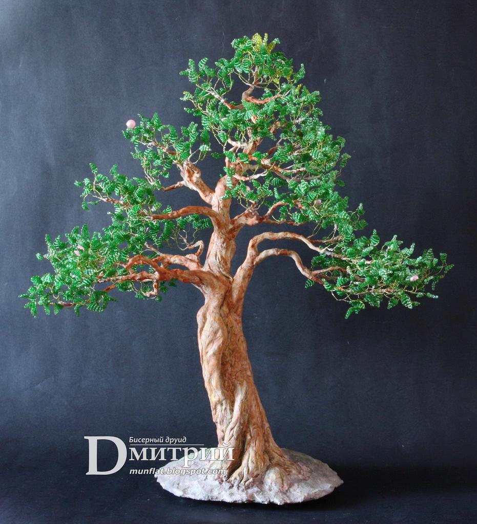 bonsai, moyogi, beads, бисерное, дерево, бисер, друид, дмитрий, шедевр, tree