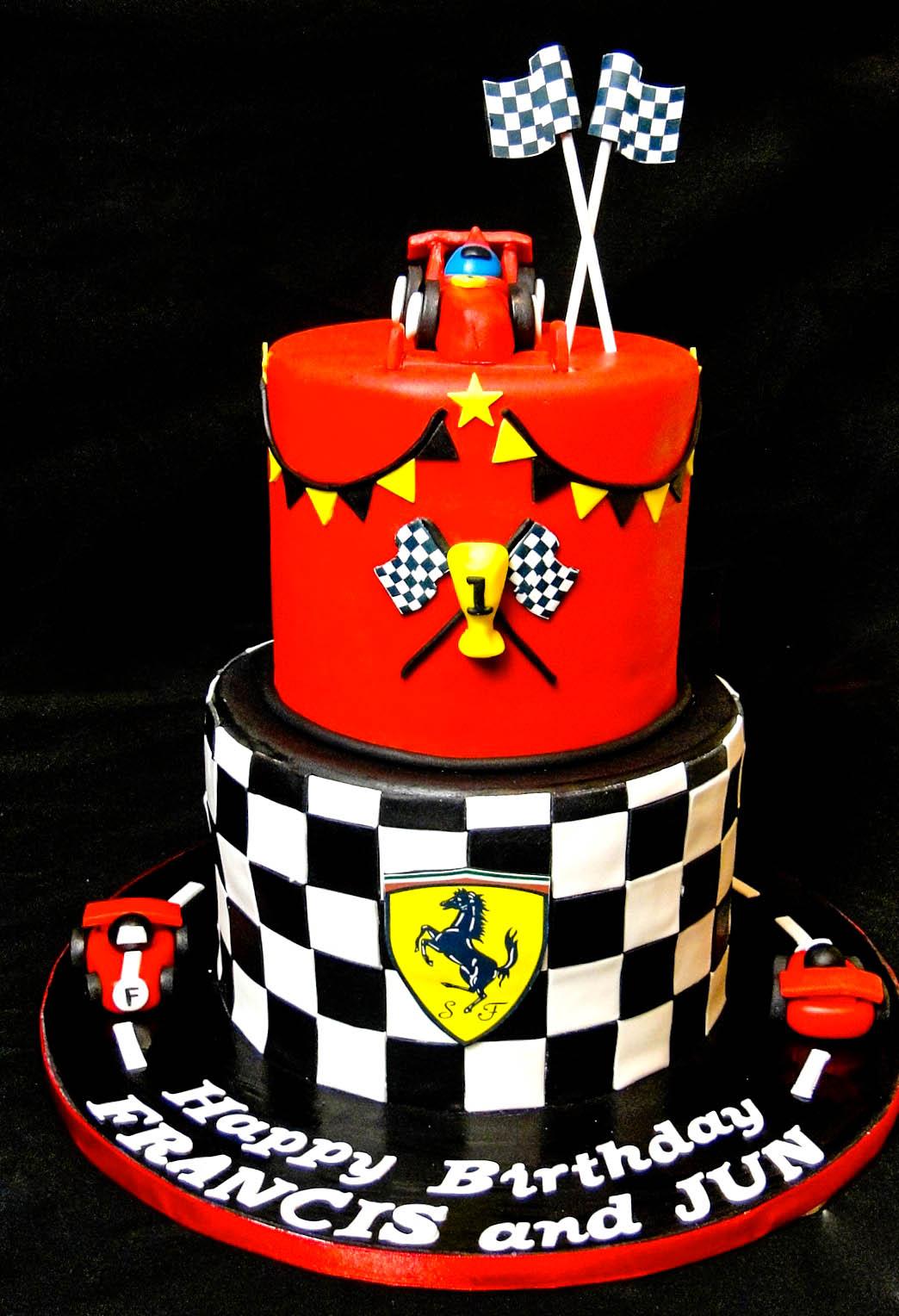 Baking Maniac 2 Tier Ferrari Cake