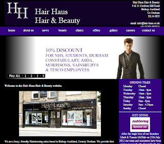 Hair Haus Cre8ive Online cre8iveonline.co.uk web design north east