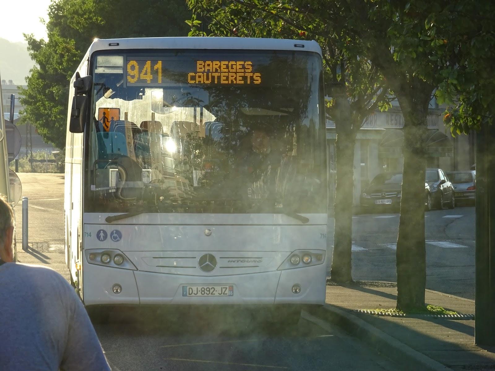 Bus in Lourdes
