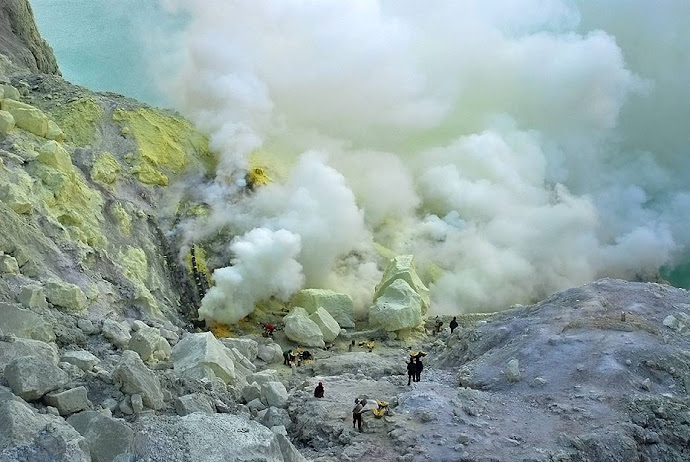 Panorámica del cráter