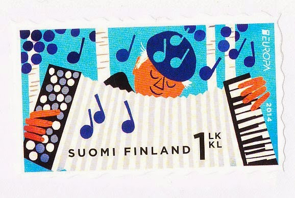 accordion, stamp, Finland, European National Musical Instruments