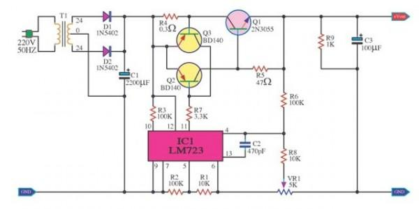voltage regulator using ic 723 lab manual