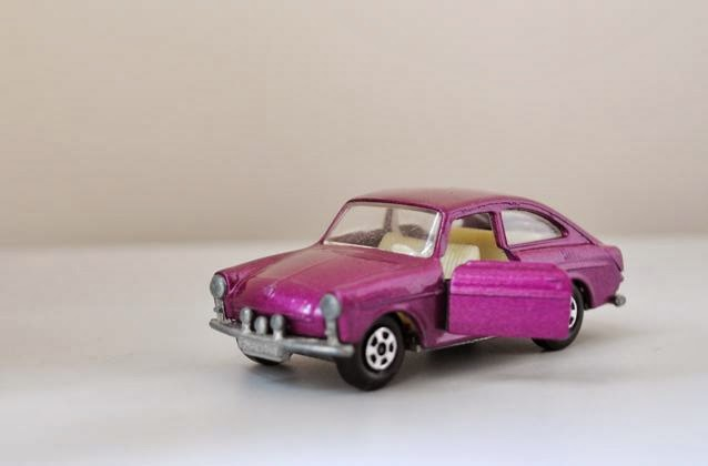 Vintage purple Volkswagen 1600 toy car