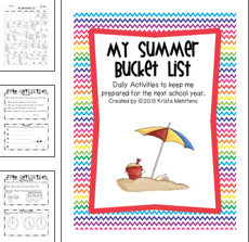 http://www.teacherspayteachers.com/Product/My-Summer-Bucket-List-Summer-booklet-to-review-concepts-246685