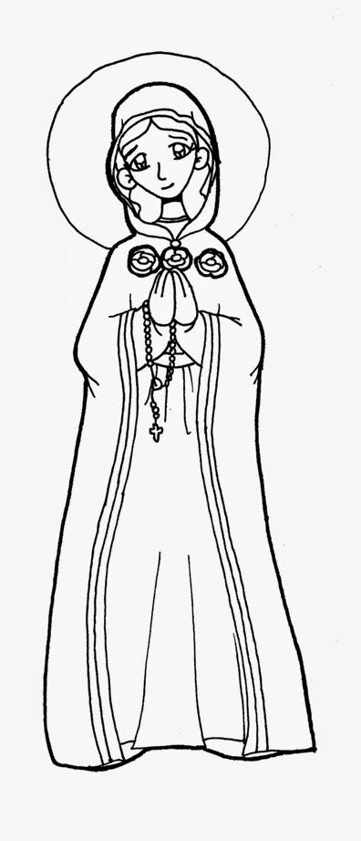 Dibujos para catequesis: MARÍA ROSA MÍSTICA
