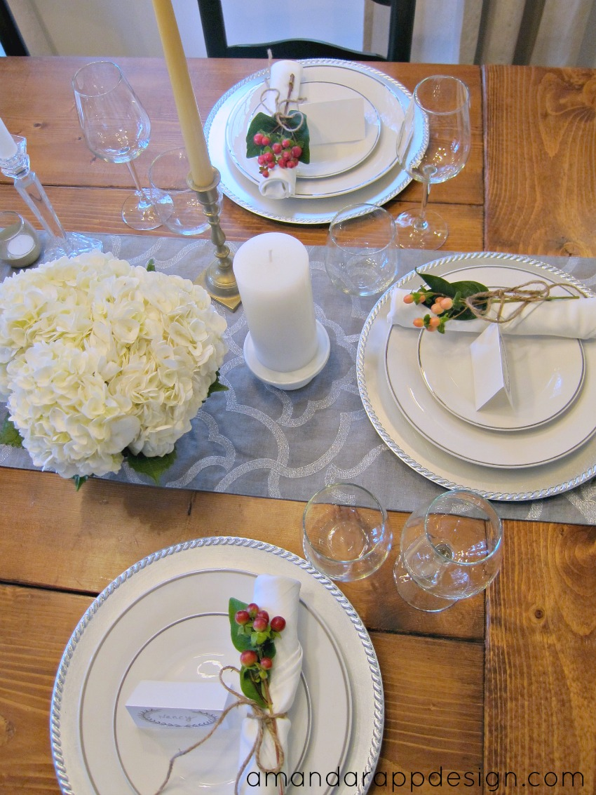 Thanksgiving Tablescape via amandarappdesign.com