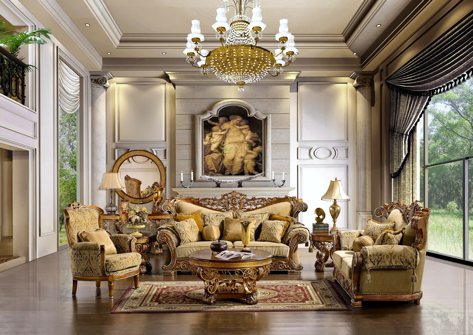 Traditional Formal Living Room Furniture