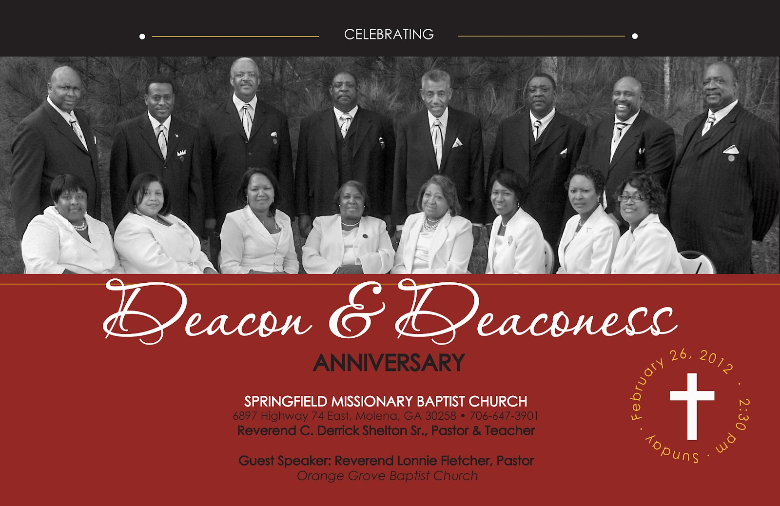 bulletin for deacon and deaconess day | just b.CAUSE
