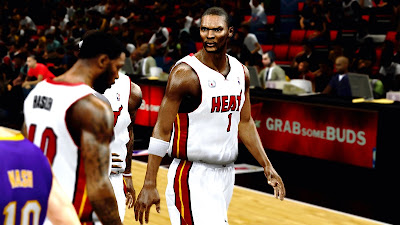 NBA 2K13 Chris Bosh Realistic Face Mod