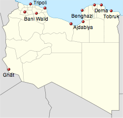 lybia protest map