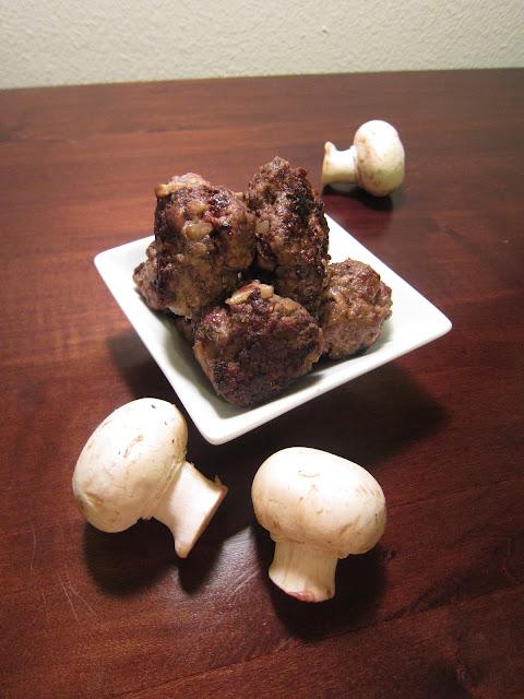 paleo mushroom meatballs