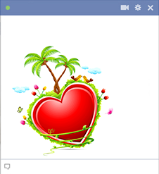 Tropical Heart Facebook Emoticon