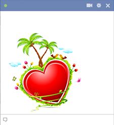 Tropical Heart Facebook Emoticon