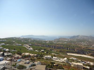 Santorni island panorama