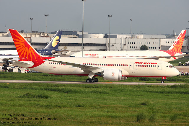 Air India First Boeing 787-8 Dreamliner VT-ANH arrives in New Delhi