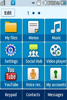 General Tau Gamma Samsung Corby 2 Theme Menu