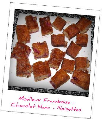 image Moelleux Framboises Chocolat blanc Noisettes