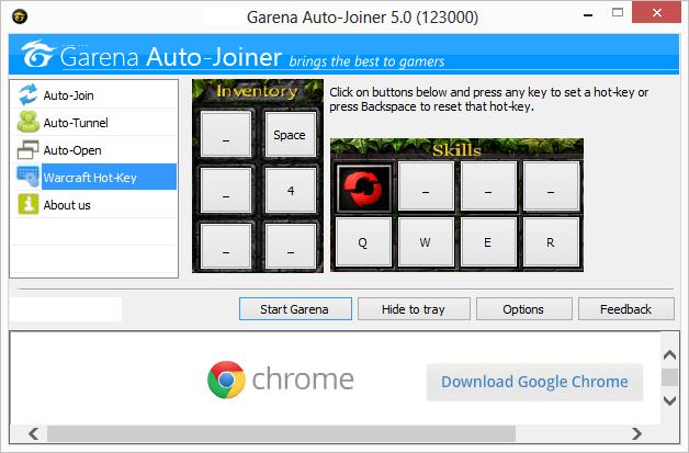DOWNLOAD GARENA Auto Joiner tự động vào phòng, Download Auto Joiner, download garena viet nam