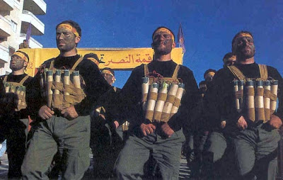 Hezbollah suicide bombers parading in Lebanon
