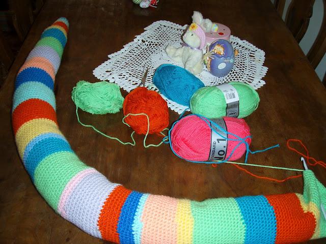 crochet snake body plush toy