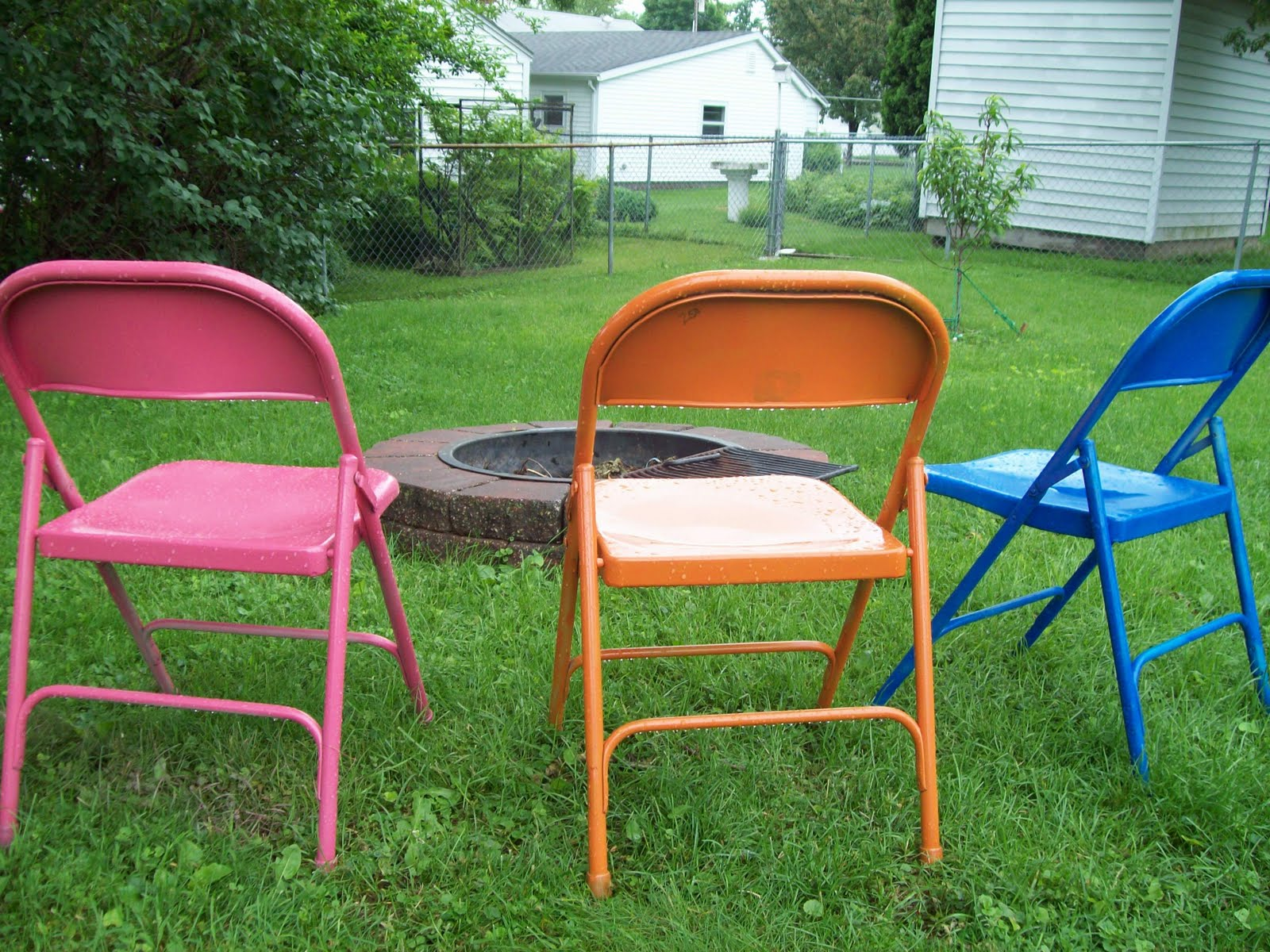 Firefighter s Fam Metal Folding Chair Re Make