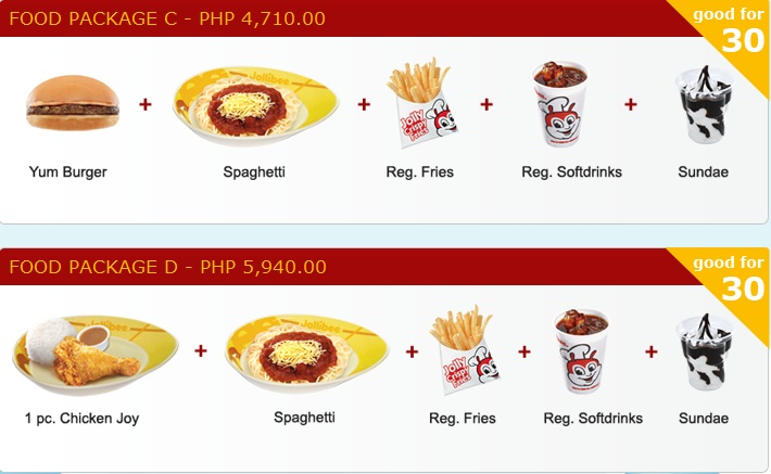 jollibee party package jollibee party package 3 p4 710 00 good for 30 ...