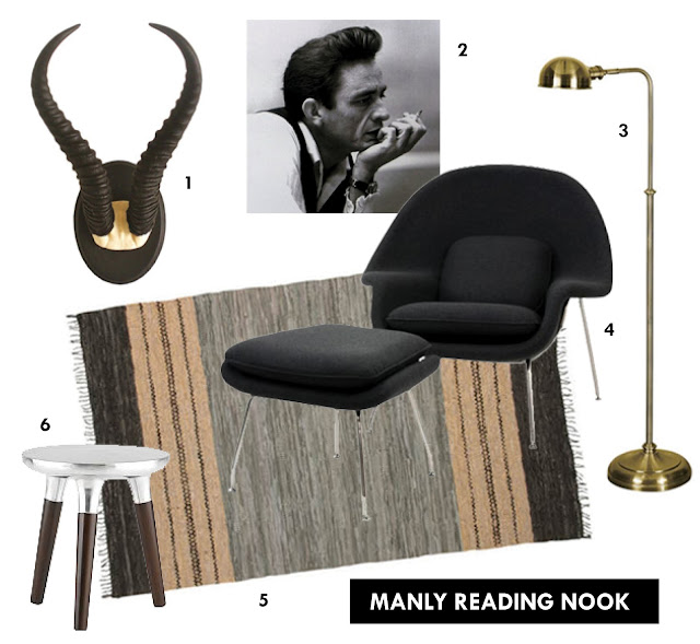 mimiandmegblog.com : MANLY READING NOOK
