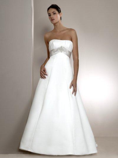 Wedding dresses for Plain a line wedding dress